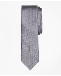 Brooks Brothers - Gray Silk Tie for Men - Lyst