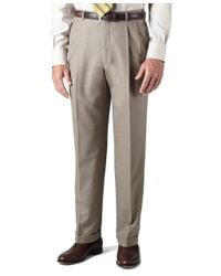 Brooks Brothers   Brown Country Club Saxxon Wool Madison Fit Pleat-front Trousers for Men   Lyst