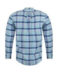 Polo Ralph Lauren Green Check Casual Shirt for men