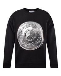 Moschino Black/silver Graphic Sweatshirt for men