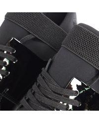 MALLET FOOTWEAR Patent Black Elast 2.0 Trainers for men
