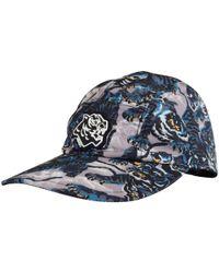KENZO - Blue Multi Tiger Logo Nylon 5 Panel Cap for Men - Lyst