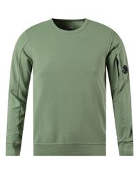 C P Company Light Green Arm Lens Sweatshirt for men