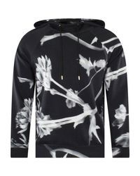Paul Smith Black Floral Hoodie for men