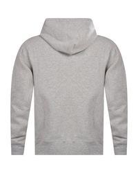 Polo Ralph Lauren Gray Classic Heather Grey Cotton Blend Fleece Pullover Hoodie for men