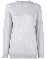 Adam Lippes Gray Cashmere And Silk Sweatshirt