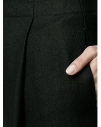 Acne Studios Black Loose Selah Wool Trousers With Front Pleats