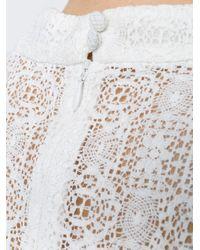 Erdem - White Lisa Lace Prairie Top - Lyst
