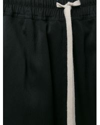 Rick Owens - Metallic Drawstring Shorts - Lyst