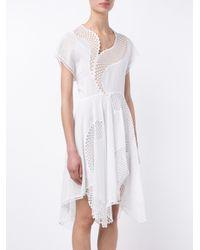 Stella McCartney - White Asymmetric Mesh Dress - Lyst