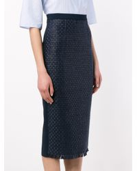 Roland Mouret - Blue Arreton Pencil Skirt - Lyst