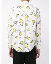 AMI - White Lemon Print Shirt for Men - Lyst