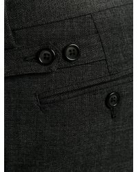 Dolce & Gabbana Gray Wool Cotton Blend Tailored Trousers for men