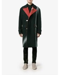 Facetasm Multicolor Wool Cotton-blend Woven Coat for men