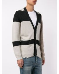 Golden Goose Deluxe Brand - Black Distressed Paddy Cardigan for Men - Lyst