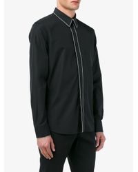 Givenchy Gray Chain Embellished Long Sleeve Shirt for men