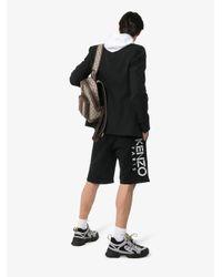 KENZO Black Logo Printed Shorts for men