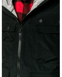 White Mountaineering Black Gore-tex Hooded Parka Jacket for men
