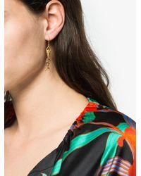 Anton Heunis - White 18k Yellow Gold Multi Stone Mermaid Earring - Lyst