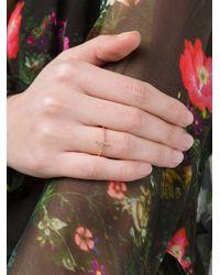 Rosa De La Cruz - Green Rose Gold & Diamond Cross Ring - Lyst