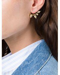 Yvonne Léon - Metallic 18k Gold Creeper Diamond Lobe Earring - Lyst