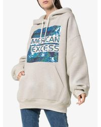 Ashish - Gray American Excess Sequin Embellished Cotton Hoodie - Lyst