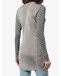 Chloé Gray Horse Jacquard Jumper With Split