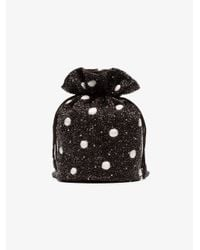 Ganni - Brown Multicoloured Wintour Bead Embellished Drawstring Pouch - Lyst