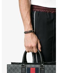 Valentino - Black Studded Buckle Braclet for Men - Lyst