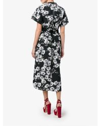 Erdem - Black Floral Print Shirt Dress - Lyst