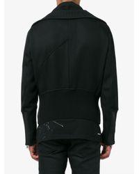 Ann Demeulemeester Black Ribbed Detail Jacket for men