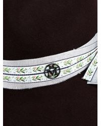 Maison Michel Multicolor 'henrietta' Hat With Grosgrain Ribbon