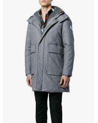 Moncler Gamme Bleu - Blue Padded Hooded Coat for Men - Lyst