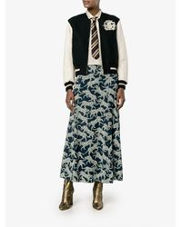 Dries Van Noten - Black Animals Print Straight Skirt - Lyst