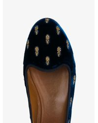 Aquazzura - Multicolor Velvet Pineapple Slippers - Lyst