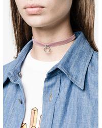 DANNIJO | Multicolor Vix Velvet Pendant Choker | Lyst