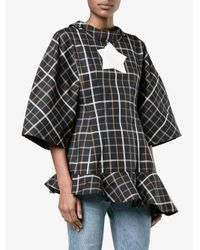 Awake - Black Oversized Checked Top - Lyst