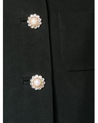 Miu Miu - Black - Flower Embellished Coat - Women - Viscose/metal/glass - 38 - Lyst