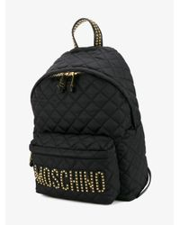 Moschino | Black Quilted Backpack | Lyst