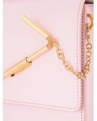 Sophie Hulme Pink Medium Straw Handbag