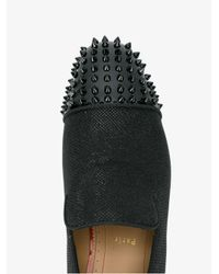Christian Louboutin Black Spooky Glitter Loafers for men