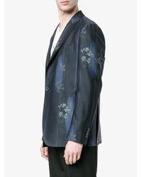 Etro Blue Floral Print Blazer for men