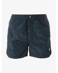 Stone Island Blue Swimming Trunks for men