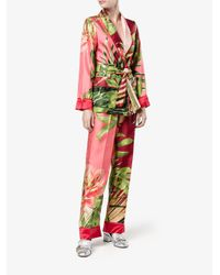F.R.S For Restless Sleepers Pink Jungle Print Pyjama Trousers