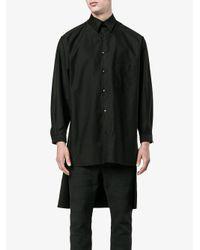 Yohji Yamamoto Black Staff Printed Long Sleeve Shirt for men