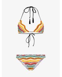 Missoni Yellow Multicoloured Zig Zag Triangle Bikini