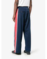 Facetasm - Blue Stripe Track Pants for Men - Lyst
