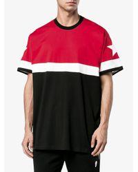 Givenchy Black Cuban-fit Paneled T-shirt for men