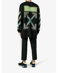 Off-White c/o Virgil Abloh Black Brushed Arrows Sweater for men
