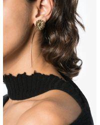Ambush - Gray Gold-tone Flower Earrings - Lyst